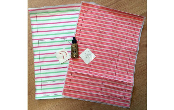 Marie Kruse green-stripe pre-sewn kit