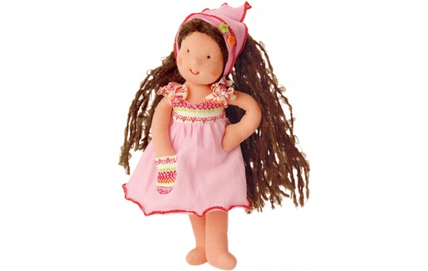 Mini It's Me Waldorf doll with brown hair