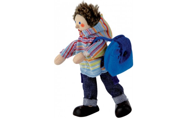 Boy doll with backpack