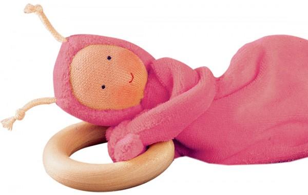 Rainbow baby pink teether