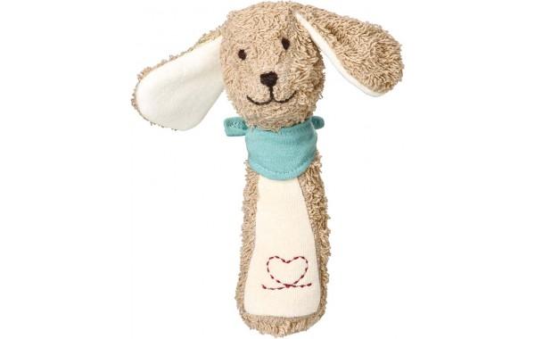 Sammy dog grasping toy rattle