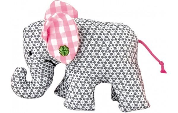 Gray pattern mini elephant