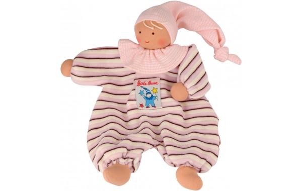 Organic pink stripe Gugguli doll