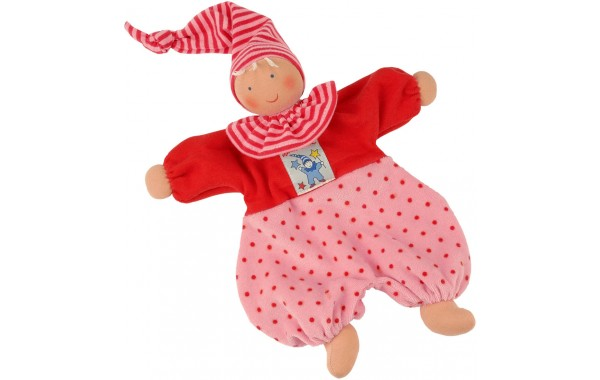 Organic pink and red Gugguli doll