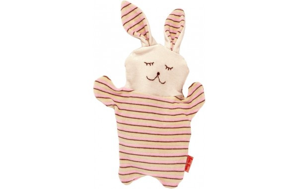 Organic Pink bunny cherry stone pillow