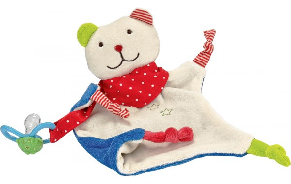 Bear pacifier towel doll