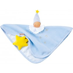 Organic Waldorf light blue towel doll