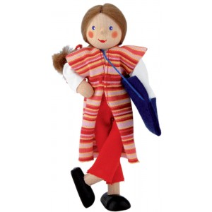 Mother doll with handbag