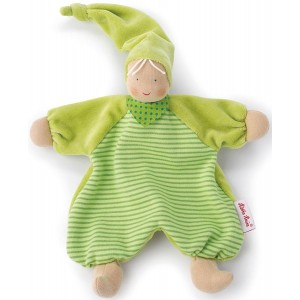 Waldorf Gugguli green stripe doll