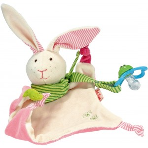 Bunny pacifier towel doll