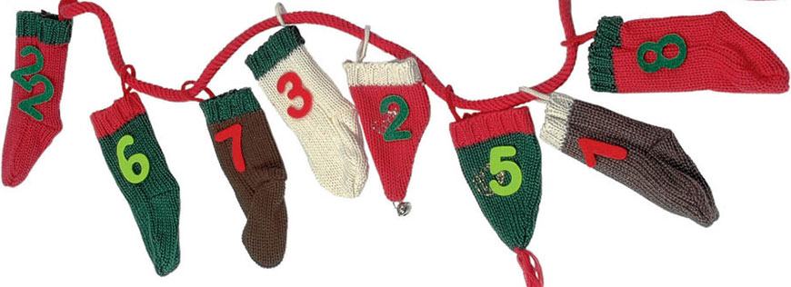 Knit stockings and hats advent calendar
