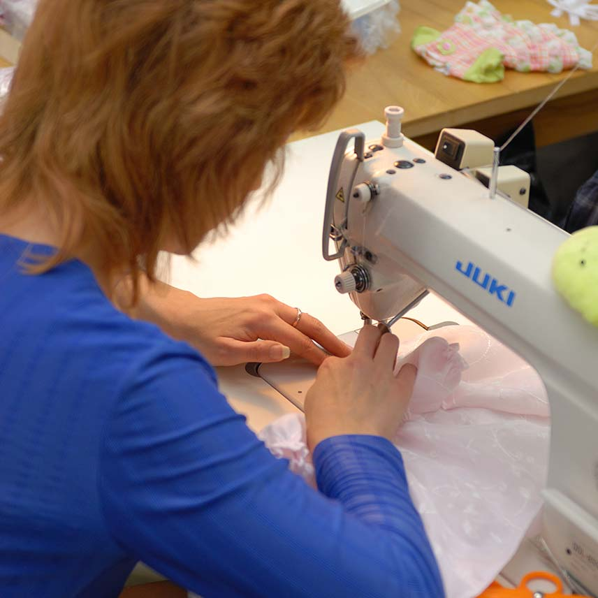 Expertly sewn doll clothing