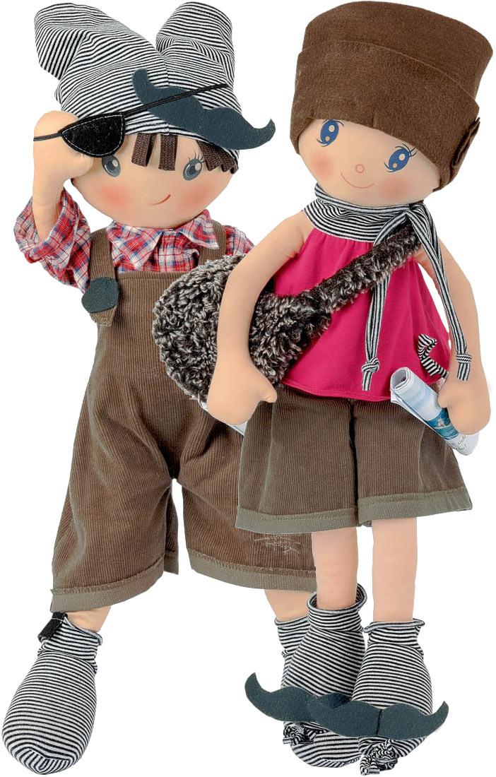 Paul and Paula soft cloth dolls
