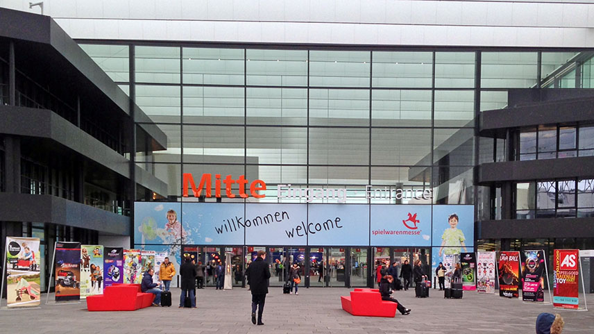 The entrance to the Spielwarenmesse, Nuremberg