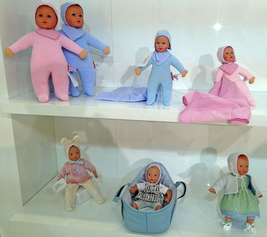 Puppa and mini Minouche dolls