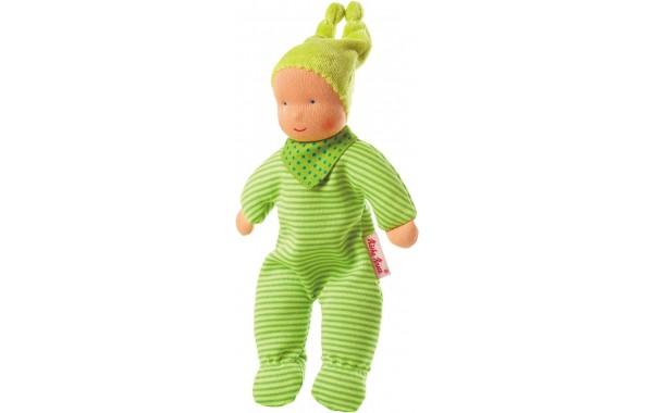 Baby Schatzi green Waldorf doll