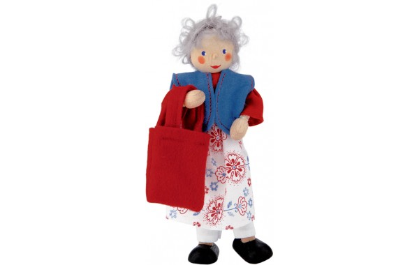 Grandmother doll with red bag