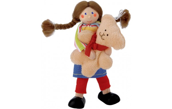Girl doll with teddy bear