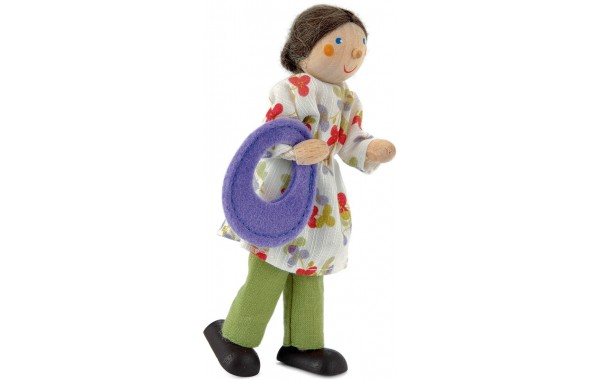 Grandmother doll with purple sack