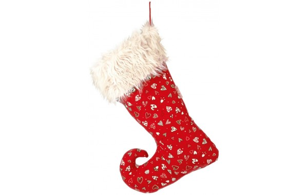 Heart pattern Christmas stocking