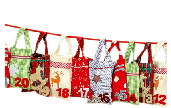 Numbered sacks advent calendar
