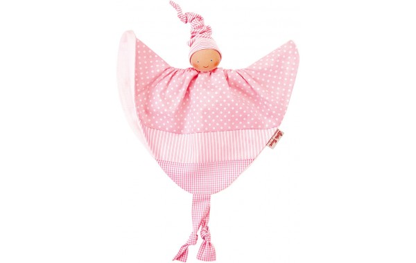 Organic pink pattern towel doll