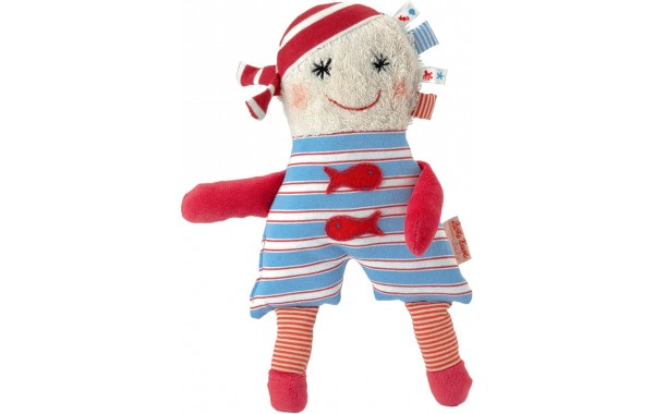 Ikibab boy doll with rattle