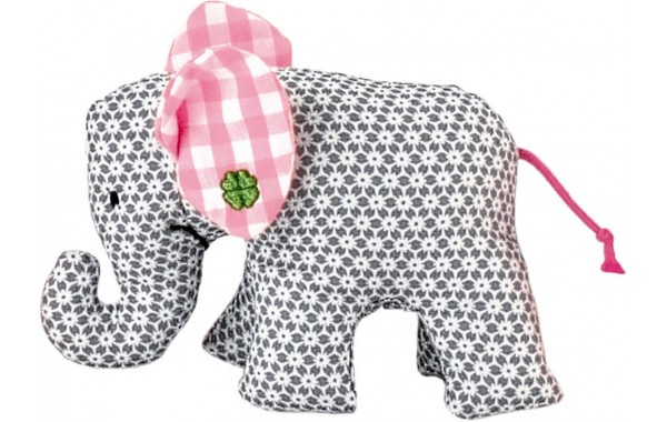 Gray pattern mini elephant