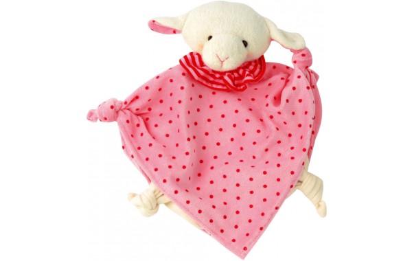 Organic pink lamb towel doll
