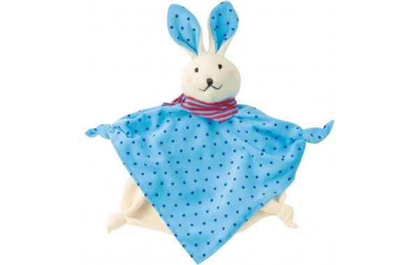 Organic blue bunny towel doll