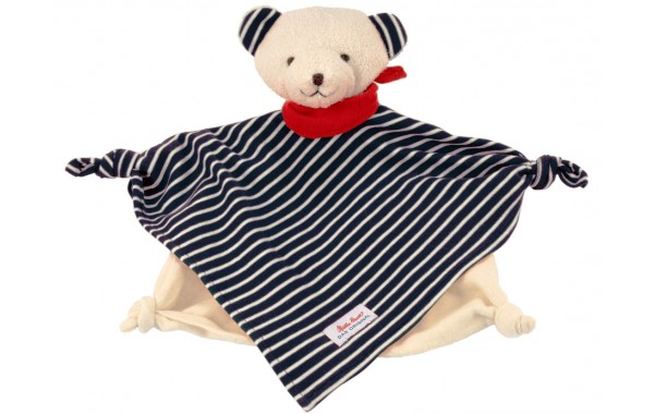 Organic blue bear towel doll