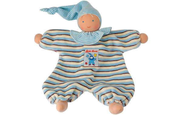 Organic blue stripe Gugguli doll