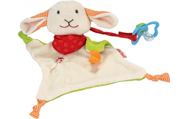 Lamb pacifier towel doll