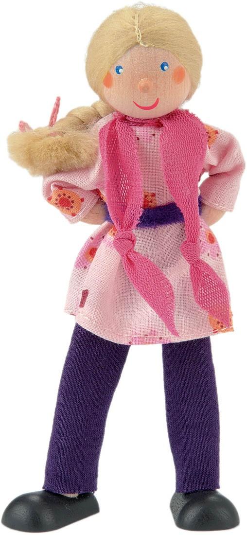 12.7 cm Kathe Kruse Mother with Handbag Poseable Dollhouse Doll 5 inches