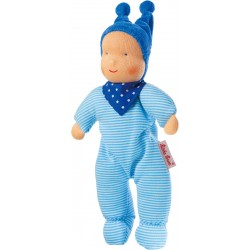 Baby Schatzi blue Waldorf doll