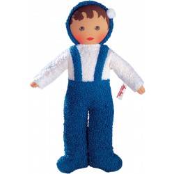 Terrycloth baby blue and white