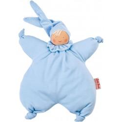 Organic Waldorf blue Gugguli doll