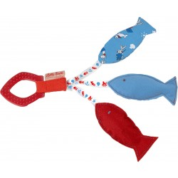 Teething toy with three fish