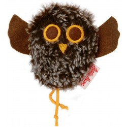 Tweeting owl plush brown