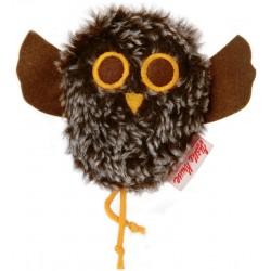 Tweeting owl plush brown
