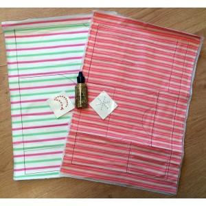 Marie Kruse green-stripe pre-sewn kit