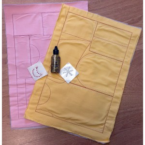 Marie Kruse yellow pre-sewn kit