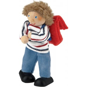 Boy doll with school bag
