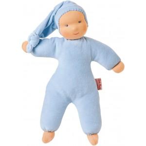 Organic Waldorf blue Schatzi doll