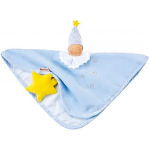 Organic light blue towel doll