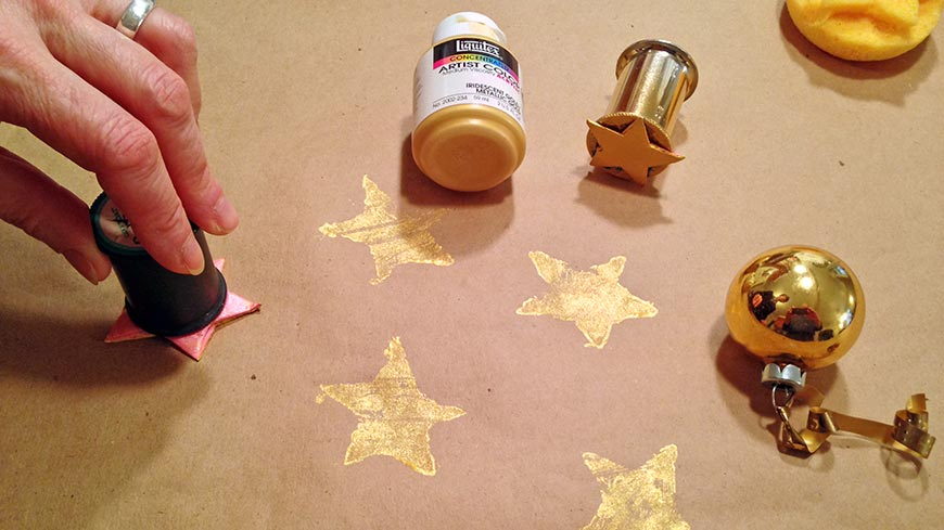 Making brown paper wrapping