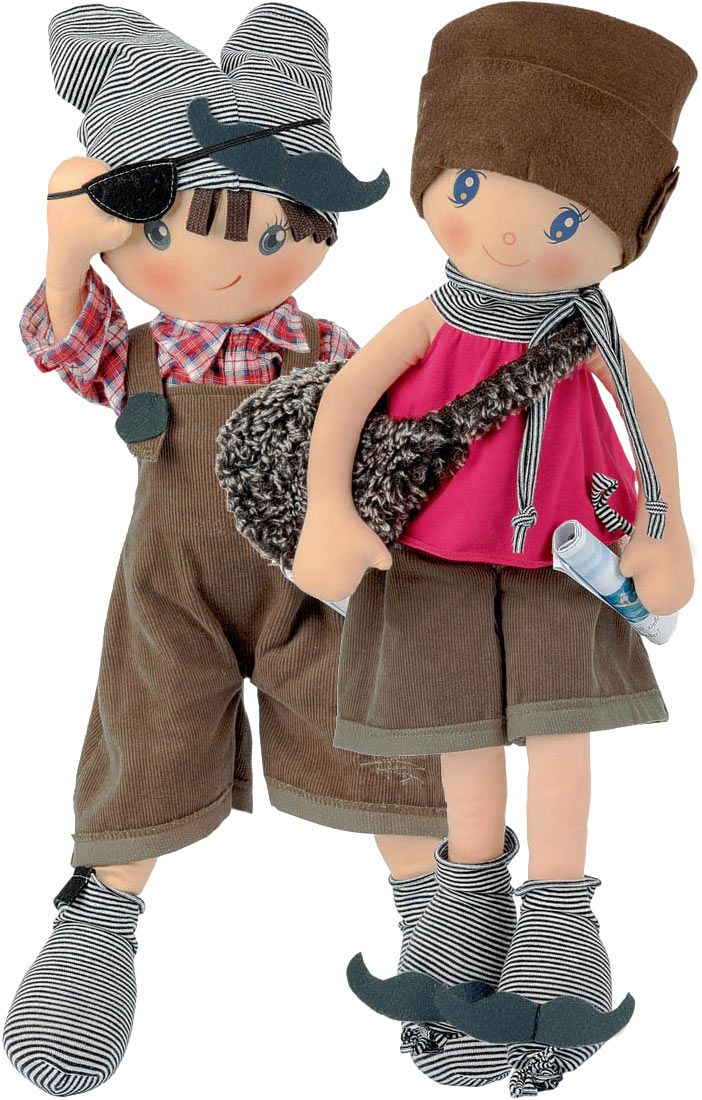 Paul and Paula soft cloth dolls
