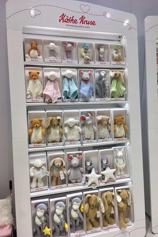 Kathe Kruse soft toys display