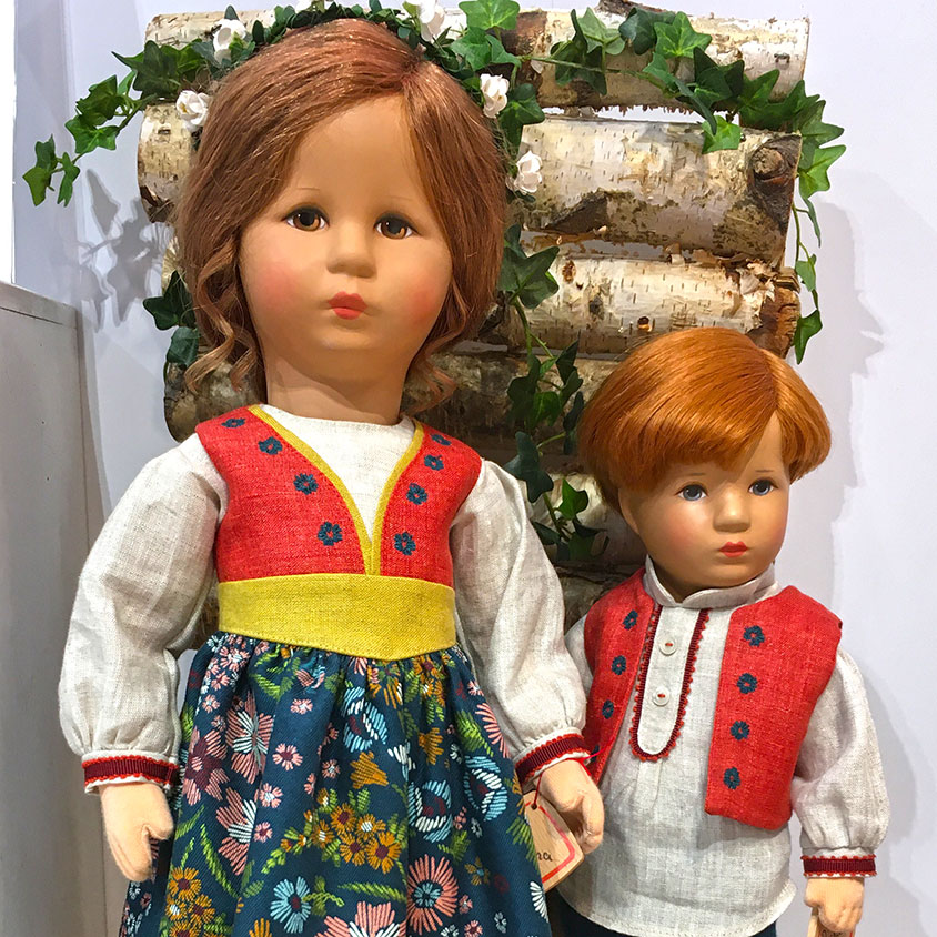 Kathe Kruse Cosima and Richard collector dolls Nuremberg 2020